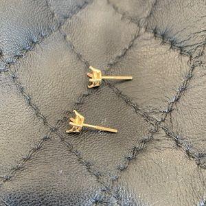 14K gold earring posts
